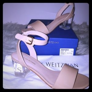 🇺🇸Stuart Weitzman Pat. Leather Ankle Strap San